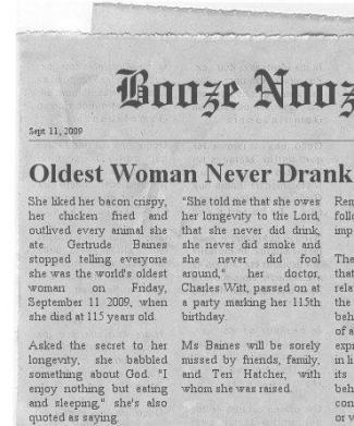 Gertrude Baines Booze Nooze