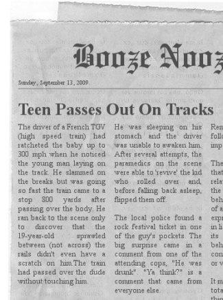 tgv newspaper