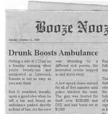 Ambulance Newspaper Clipping