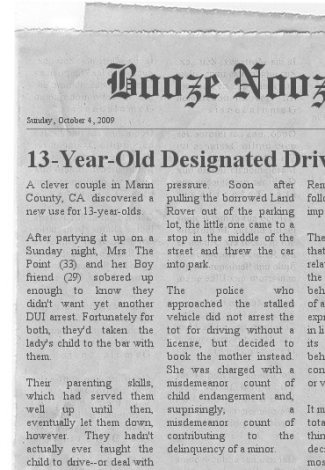 13-Year-Old Designated Driver