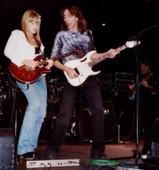 With Steve Vai at 19