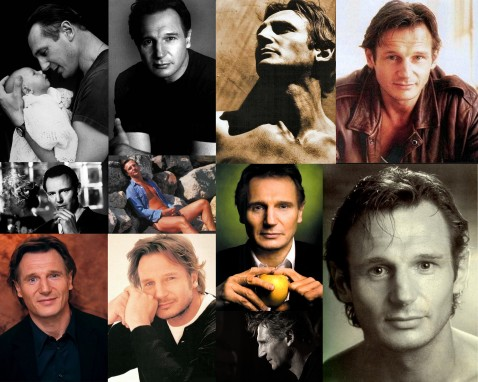 Liam Neeson Bar None Collage wallpaper
