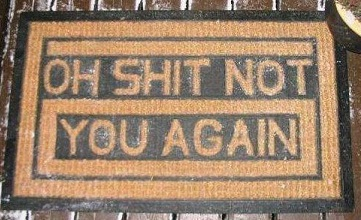Oh Shit Doormat small