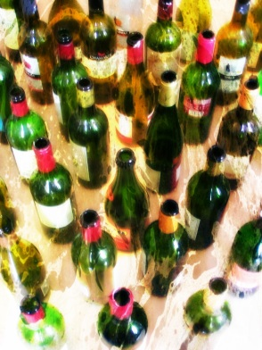Wine Bottle Forest LSD Cures Alcoholism