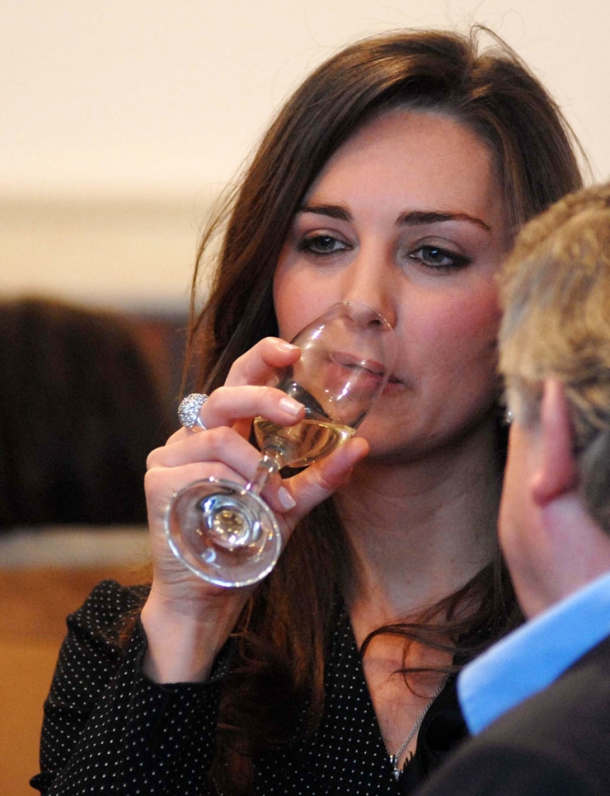 Kate Middleton Drinking in the Bar None