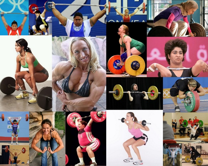 Female Weightlifters Wallpaper