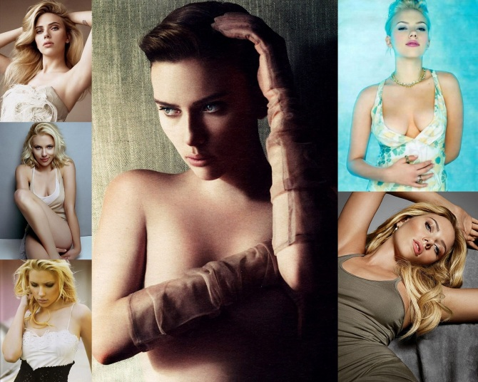 Scarlett Johansson  2012-04-30 Collage Wallpaper