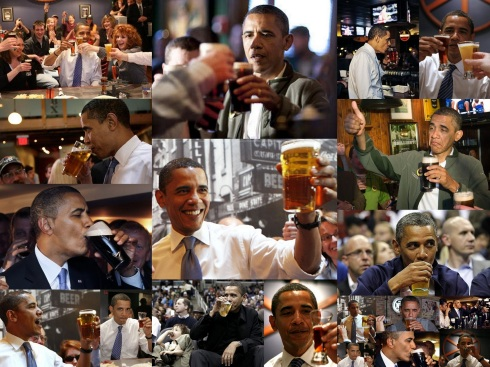 Obama beer wallpaper collage