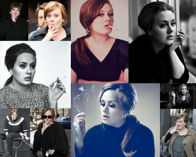 Adele Smoking in the Bar None