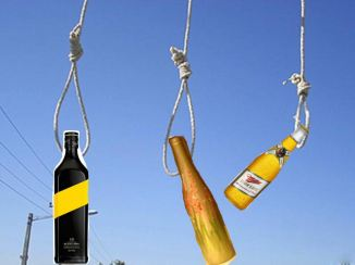 bottle alcohol noose execution