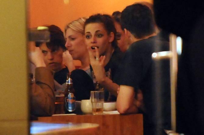 Kristen Stewart & Rupert Sanders in the Bar None