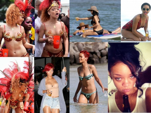 Rihanna Dregs 2012-09-02 Drunk Collage Wallpaper