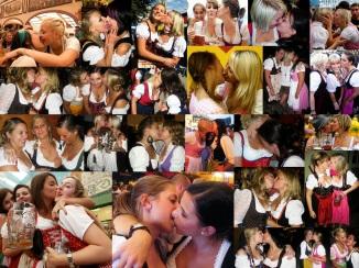 Oktoberfest Girls Kissing Collage