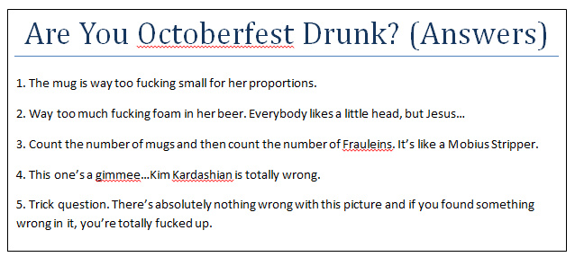 Are You Octoberfest Drunk