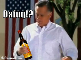 Mitt Romney Drunk and still Drinking the Bar None Slurperson