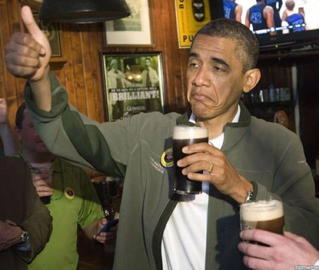Obama Drunk and still Drinking the Bar None Slurperson