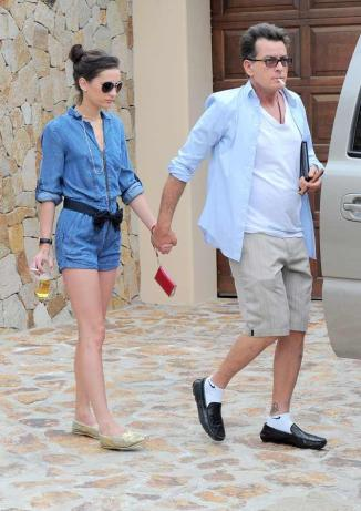 Charlie Sheen & Georgia Jones Going to the Bar None
