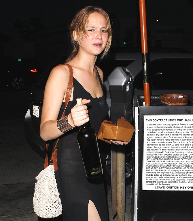 Jennifer Lawrence in the Bar None Booze Revooze