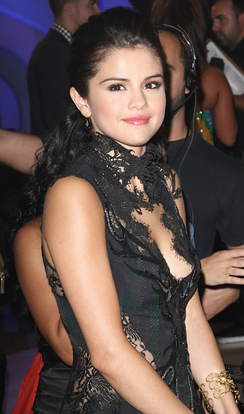 Selena Gomez 04 Bar None Booze Revooze down blouse