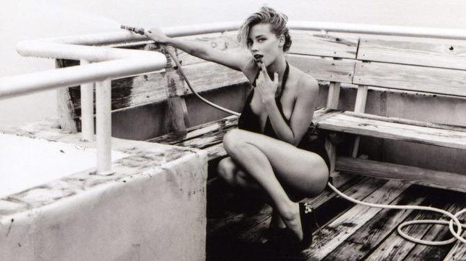 Amber Heard 02 down blouse Bar None Dregs AlKHall