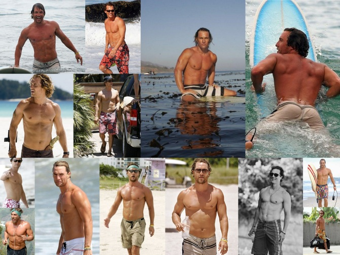 Matthew McConaughey Bar None Wallpaper Swimsuit Booze Revooze Mud