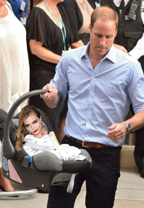 Prince William picks up Harry's Royal Baby (Al K Hall Bar None Dregs)
