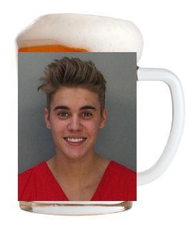Justin Bieber 03 Mug Shot (AlKHall Bar None Booze Nooze Dregs)