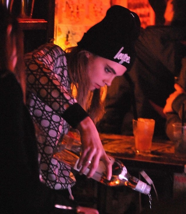 Cara Delevingne 09 in the Bar None (AlKHall Bar None)