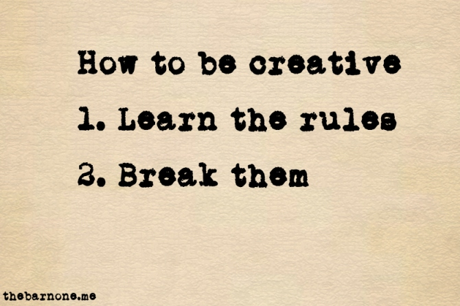 2014-10-13 How to be creative