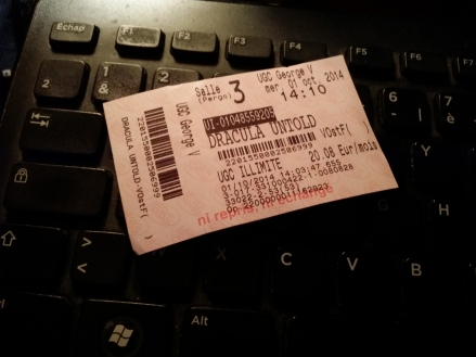 Dracula Untold 00 ticket (AlKHall Booze Revooze Bar None)
