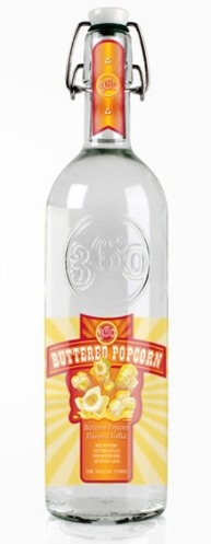 Kiddy Vodka 09 Buttered Popcorn  Vodka (AlKHall Bar None Dregs)