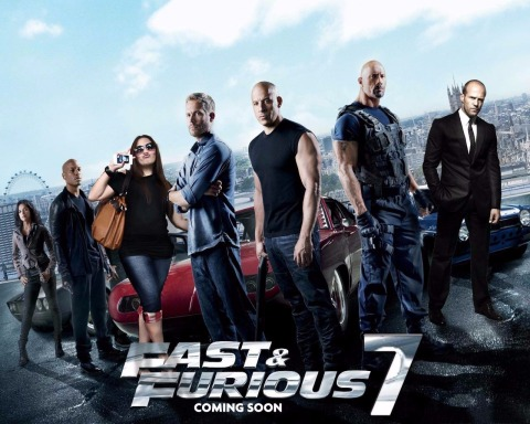 Fast & Furious 7 poster (Audio Dregs Booze Revooze AlKHall)