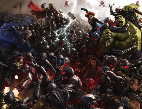 The Avengers Age of Ultron poster (AlKHall Bar None Booze Revooze Audio Dregs)
