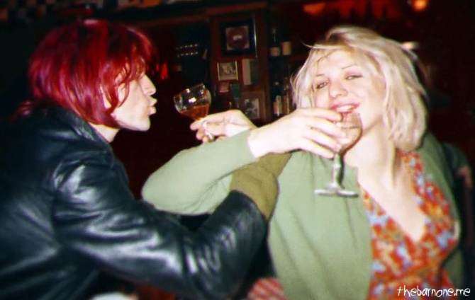 Cobain Montage of Heck 04 Kurt Cobain & Courtney Love in the Bar None (Bar None Booze Revooze AlKHall)