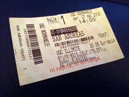 San Andreas Ticket 2015-05-27