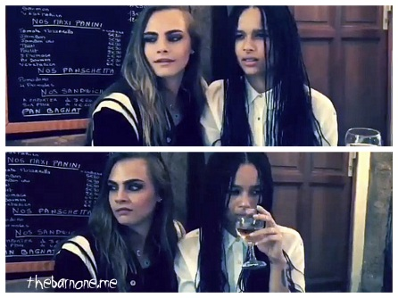 Zoë Kravitz 00 & Cara Delevingne in the Bar None (Bar None Booze Revooze AlKHall)