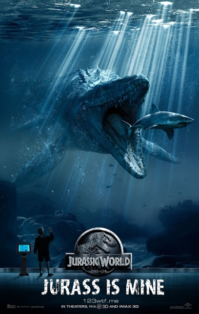 Jurassic World parody poster (WTF Watch The Film Saint Pauly)